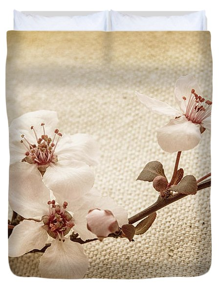 Vintage Blossoms Duvet Cover by Caitlyn  Grasso