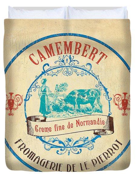 Vintage Cheese Label 3 Duvet Cover by Debbie DeWitt