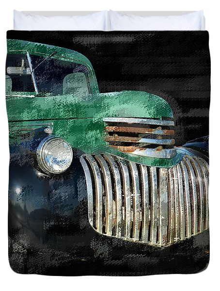 Vintage Chevrolet Pickup 1 Duvet Cover by Betty LaRue