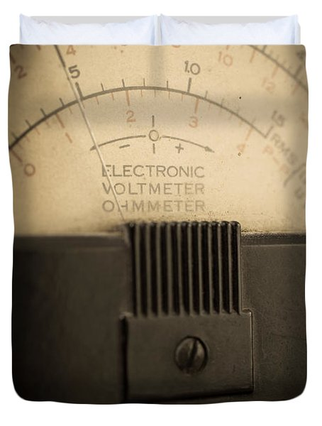 Vintage Electric Meter Duvet Cover by Edward Fielding