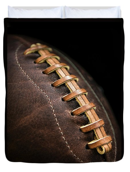 Vintage Football Duvet Cover by Diane Diederich