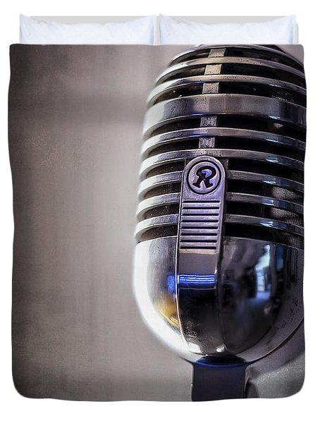 Vintage Microphone 2 Duvet Cover by Scott Norris