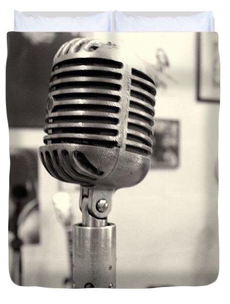 Vintage Microphone Sun Studio Duvet Cover by Dan Sproul