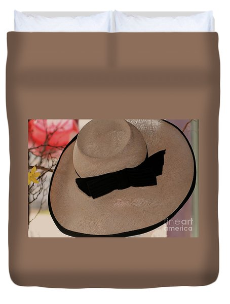 Vintage Picture Hat Duvet Cover by Kathleen Struckle