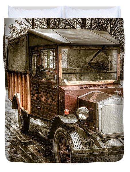 Vintage Replica Duvet Cover by Adrian Evans