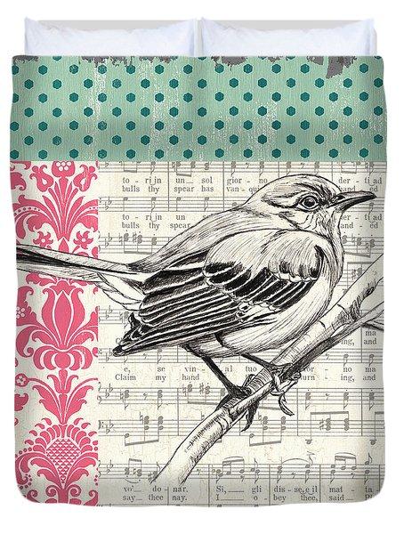 Vintage Songbird 4 Duvet Cover by Debbie DeWitt