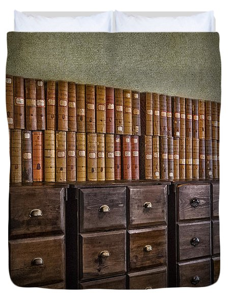 Vintage Storage Duvet Cover by Susan Candelario