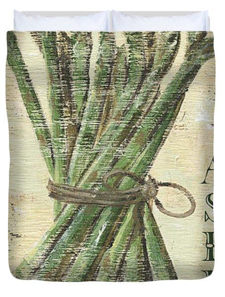 Vintage Vegetables 1 Duvet Cover by Debbie DeWitt