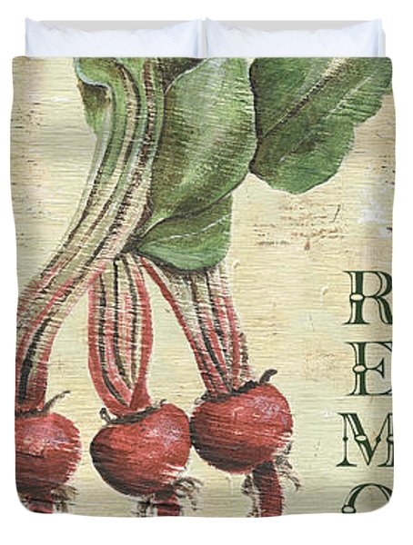 Vintage Vegetables 3 Duvet Cover by Debbie DeWitt