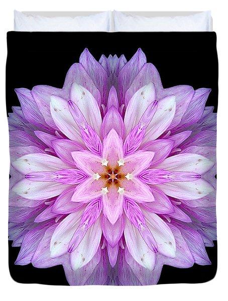Violet Dahlia I Flower Mandala Duvet Cover by David J Bookbinder
