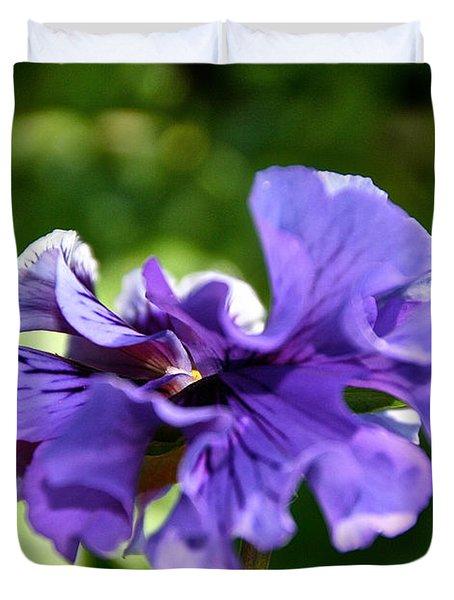 Violet Ruffles Duvet Cover by Susan Herber
