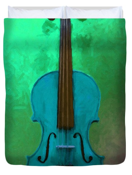 Violin - 20130111 V2 Duvet Cover by Wingsdomain Art and Photography