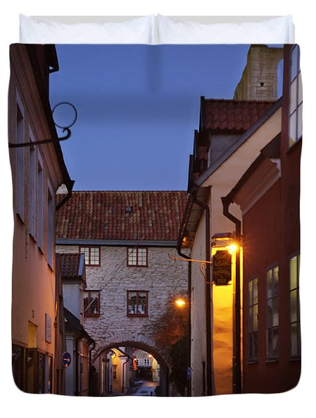 Visby Evening  Duvet Cover by Ladi  Kirn