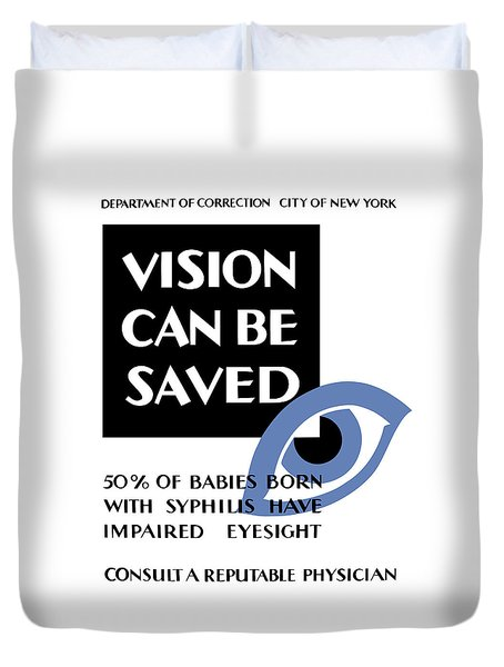 Vision Can Be Saved - Wpa Duvet Cover by War Is Hell Store