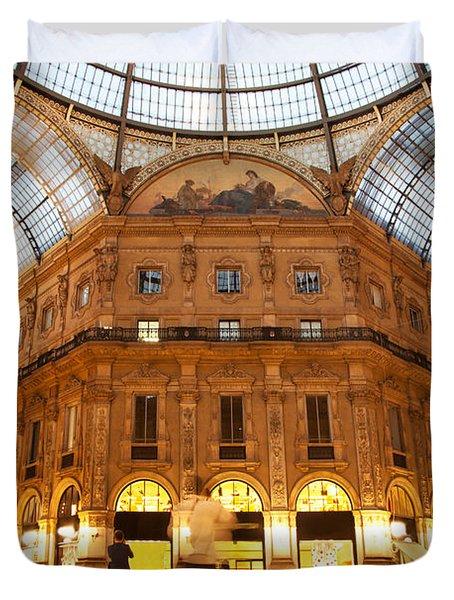 Vittorio Emanuele II Gallery Milan Italy Duvet Cover by Michal Bednarek