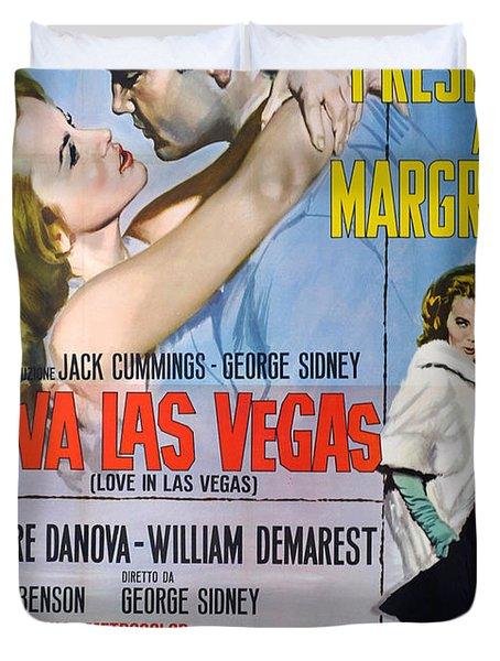 Viva Las Vegas Duvet Cover by Nomad Art And  Design