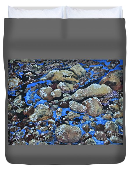 Voice Of The Stones Duvet Cover by Carla Stein