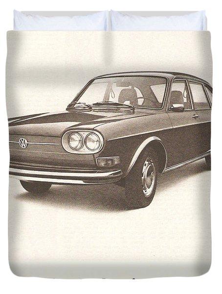 Volkswagen 411 Duvet Cover by Nomad Art And  Design