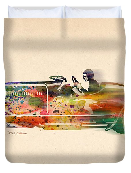 Volkswagen Duvet Cover by Mark Ashkenazi