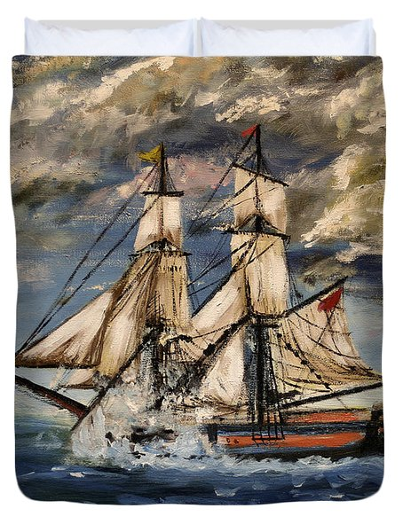 Voyage Of The Cloud Chaser Duvet Cover by Isabella F Abbie Shores LstAngel Arts