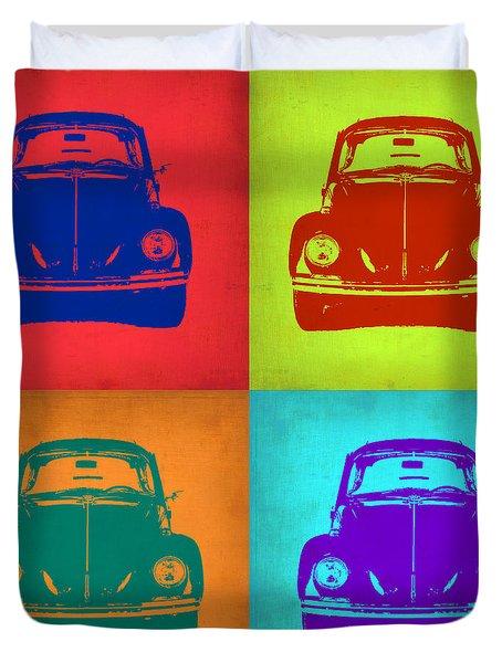 Vw Beetle Pop Art 5 Duvet Cover by Naxart Studio