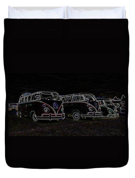 Vw Microbus Glow Duvet Cover by Steve McKinzie