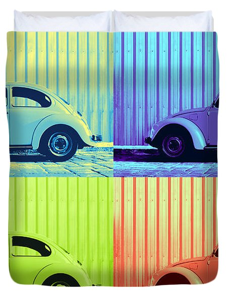 Vw Pop Summer Duvet Cover by Laura  Fasulo