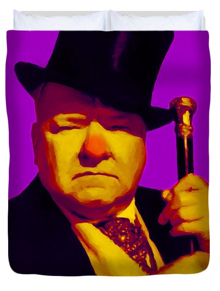 W C Fields 20130217m30 Duvet Cover by Wingsdomain Art and Photography