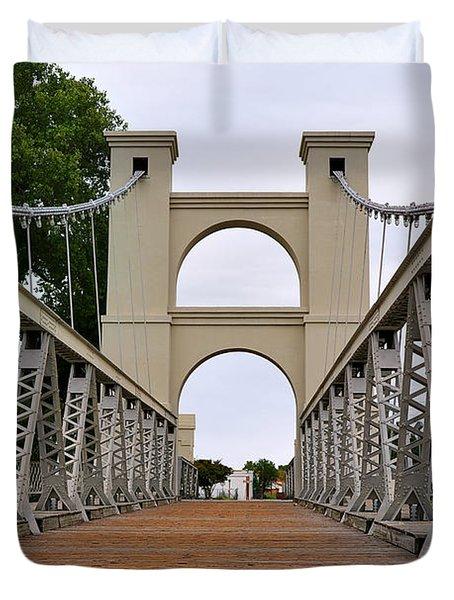Waco Suspension Bridge Duvet Cover by Christine Till