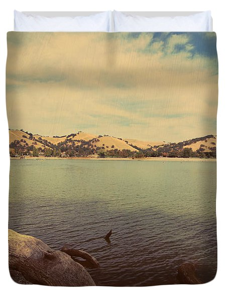 Wading Into The Cold Water Duvet Cover by Laurie Search