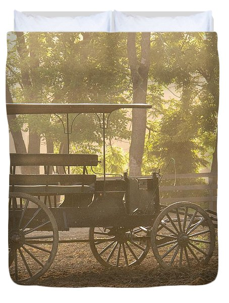 Wagon - Abe's Buggie Duvet Cover by Mike Savad