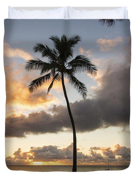 Waimea Beach Sunset - Oahu Hawaii Duvet Cover by Brian Harig