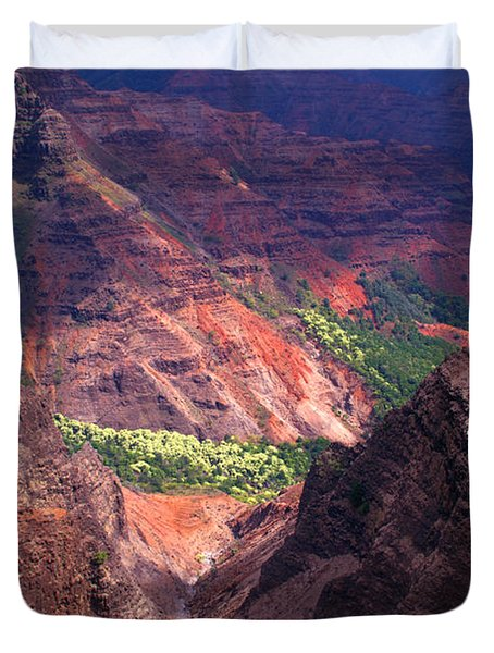 Waimea Canyon 3 Duvet Cover by Brian Harig