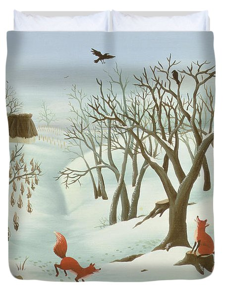 Waiting For Better Times Duvet Cover by Magdolna Ban