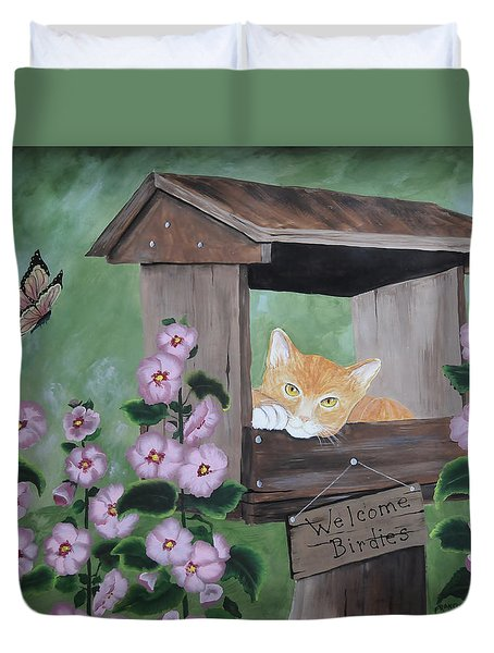 Waiting For Lunch Duvet Cover by Kenny Francis