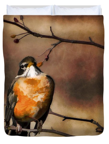 Waiting For Spring Duvet Cover by Jordan Blackstone