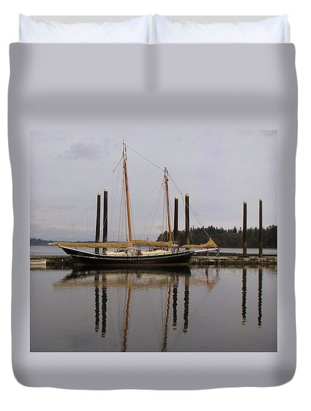Waiting to Sail Duvet Cover by Feva  Fotos