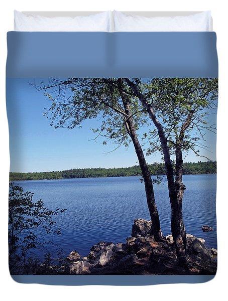 Walden Pond Saugus MA Duvet Cover by Barbara McDevitt