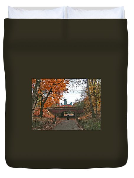 Walk In The Park Duvet Cover by Barbara McDevitt
