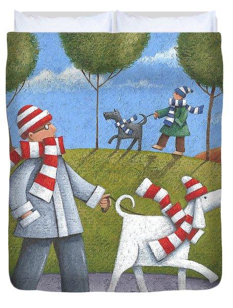 Walk In The Park Duvet Cover by Peter Adderley