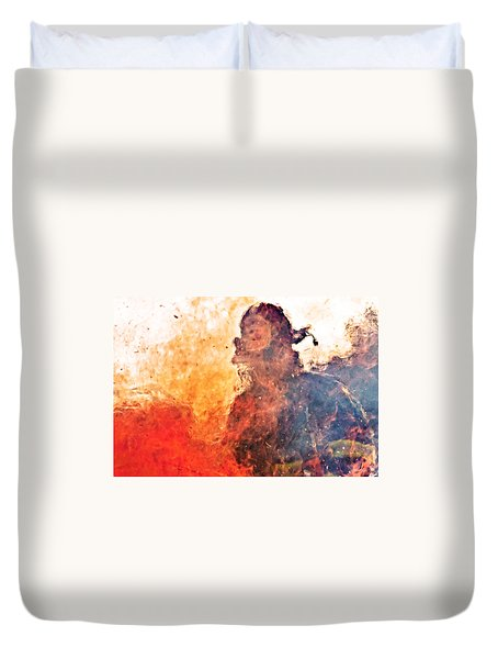 Walk Through Hell Duvet Cover by Everet Regal