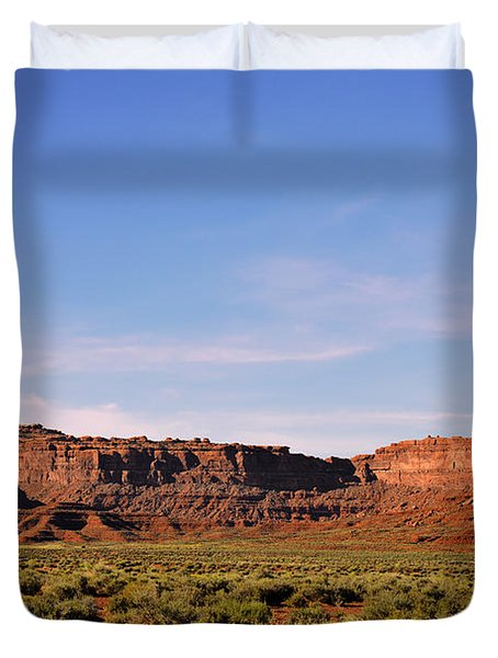 Walking In The Valley Of The Gods Duvet Cover by Christine Till