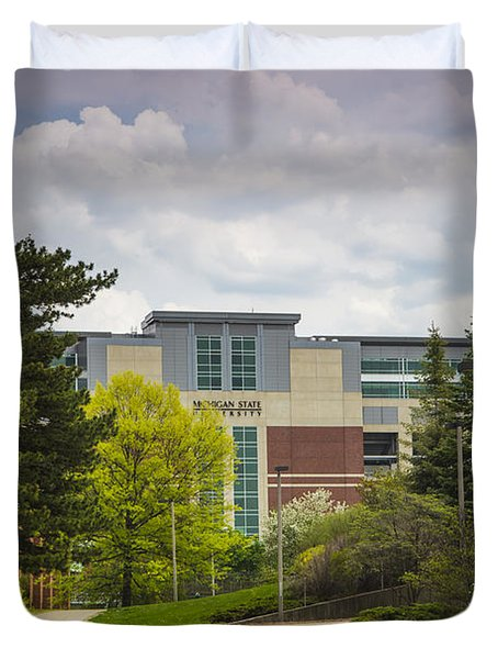 Walkway To Spartan Stadium Duvet Cover by John McGraw