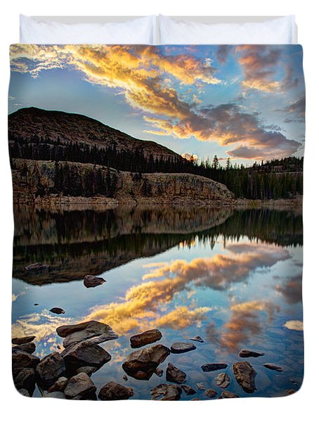 Wall Reflection Duvet Cover by Chad Dutson