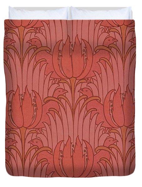 Wallpaper Design Duvet Cover by Victorian Voysey