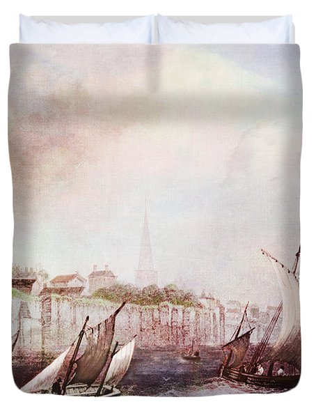 Walls Of Southampton Duvet Cover by Lianne Schneider