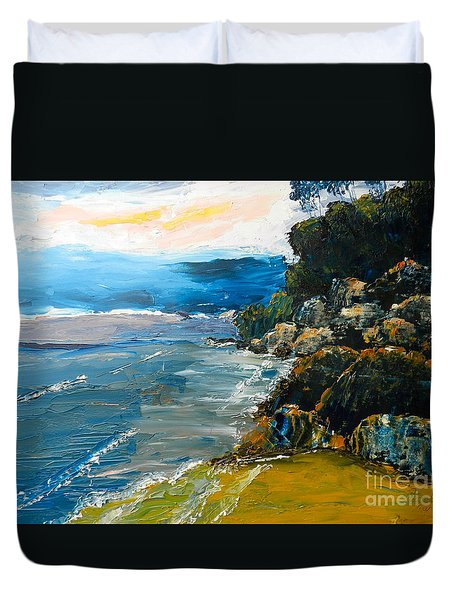 Walomwolla Beach Duvet Cover by Pamela  Meredith