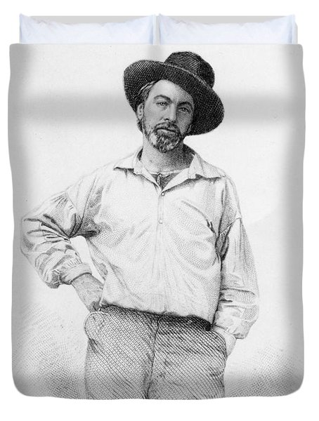 Walt Whitman Frontispiece To Leaves Of Grass Duvet Cover by American School