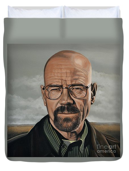 Walter White Duvet Cover by Paul Meijering