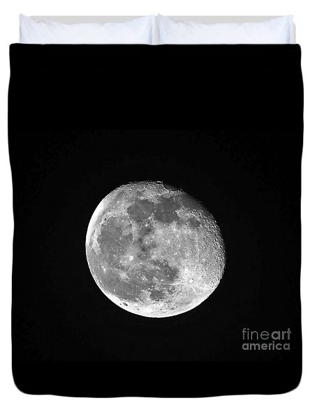 Waning Pink Moon Duvet Cover by Al Powell Photography USA